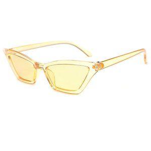 Cat Eye Y2K Eiffel 65 Aqua Vengaboys Sunglasses YELLOW
